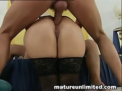 Moms get pounded by 2guy ass plumb