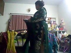 Hot aunty caught on hidden web cam