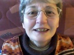 Nerdy Grandma Gets a Mouthful of Cum
