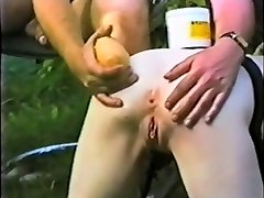 Submissive gimp maid ass distroyed