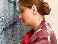 whore taking rod in the bathroom  with her undies on pt1