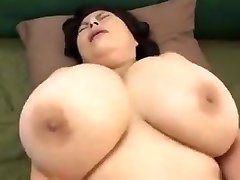 Japanese Mature with huge orbs