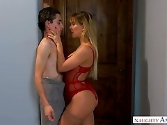 Quite bootyful sexpot Cherie Deville gets bent over and fucked rear end