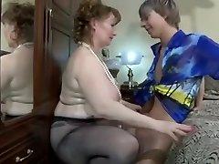 2 aged dominatrix-slut and youthful chaps.