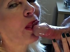 Mature light-haired blowjob