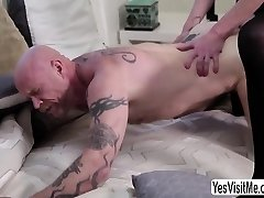 Horny shemale fingers and fucks transman