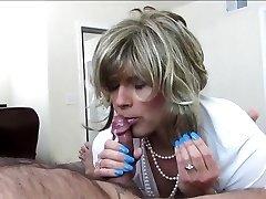 Sexy Crossdresser Deepthroats and Fucks