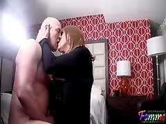 Making out with a handsome Crossdresser