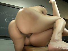 Bad Teacher Good Porn Ts Foxxy Initiates her Classmate Into Sex Work