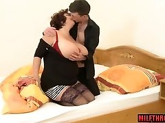 Big cupcakes milf funbag fuck with cum on tits