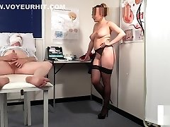 Spex nurse voyeur instructing fapping patient