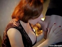 En Klassisk Sensuell CFNM Blowjob