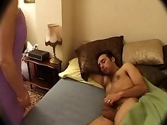 French Mommy wakes up NOT her sonny with Blowjob