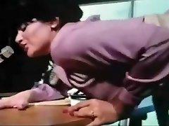 neverjetno japonski kurba v pohoten pripravo, retro jav scene