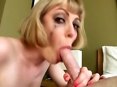 Busty blonde an filthy throat face fuck swallow