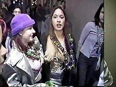 Mandi becomes a bead whore at Mardi Gras 2001