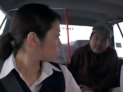 Nasty Asian chick Nao Mizuki, Hikari Hino in Ultra-kinky Car, Cunnilingus JAV movie
