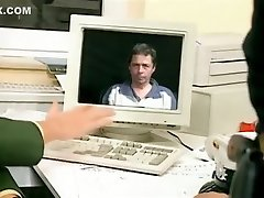 hihetetlen amatőr iroda, harisnya szex klip