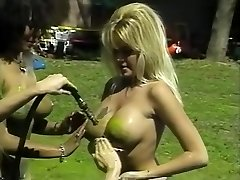 Epic pornographic stars Isis Nile, Paula Price and Danyel Cheeks in hottest fetish, vintage adult scene