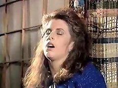 Girl in doorway rubs cunny 80's
