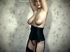 naha kaubandus - vintage 80 suured tissid blond ribad tants