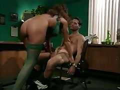 retro busty cougar anal in office