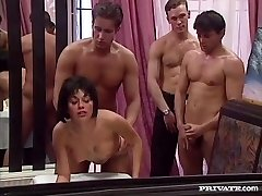 Rita Cardinale, Gangbang un Bukkake Restorānā