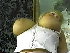 Vintage chubby blond with big tits