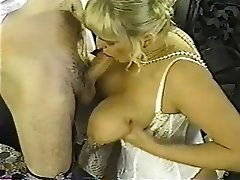 Vintage chubby blond with immense tits