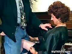 Nasty MILF maid bj's on her bosses part5
