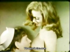 Girlfriend's Deepthroat Gullet Cumshot (1960s Vintage)