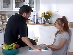 Dad fucks her young step-stepdaughter