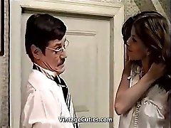 Cute Latina Maid and Her Grubby Boss (1970s Antique)