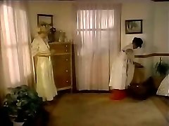 Lustful domina seduces maid and makes her lick pussy