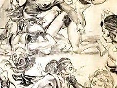 Amazonke prevladujejo mešana rokoborba, lezbijke, rokoborba umetnosti stripi