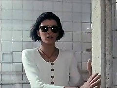Blind woman at the bath house -- Euro vintage