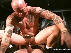 Man with the Pussy Buck Angel in HOT Tattoo 3 way