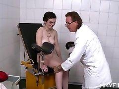 Youthfull German Teen visits the elder Cock Doctor