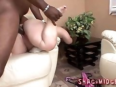 Whorish Midget Interracial Shagged