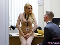 Fantastic huge-boobed teacher fucked hard in her office