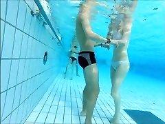 beautifull couple at pool
