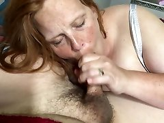 Wife inhales and swallows