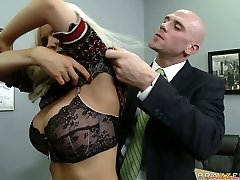 Naughty instructor Diamond Foxxx is punished by college principle