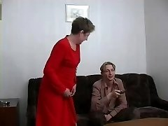Ugly granny gets banged by a young guy