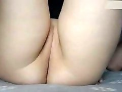 Small taut moist shaved cubby cameltoe pussy being fingered