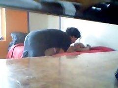 I nailed my horny Latina wifey on a hidden camera