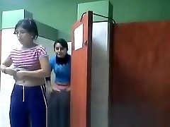 Two Girls Stagged Going Toilet