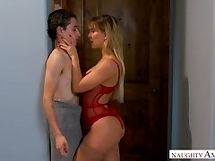 Quite bootyful sexpot Cherie Deville gets leaned over and fucked doggy