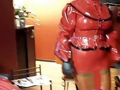 Incredible homemade Latex, BDSM hook-up video