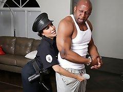 Lela Starlet & Prince Yahshua in Bad Cop Black Jizz-shotgun - RKPrime